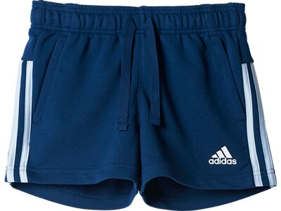 "ADIDAS Girls Shorts ""Essential 3-Streifen Mid Shorts"" Blau"