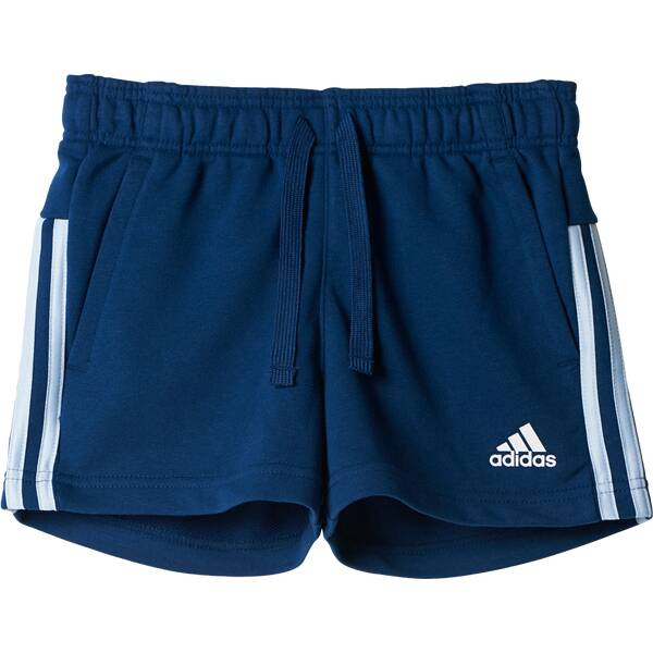ADIDAS Girls Shorts Essential 3-Streifen Mid Shorts Blau