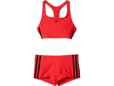 ADIDAS Kinder 3-Streifen Bikini Rot