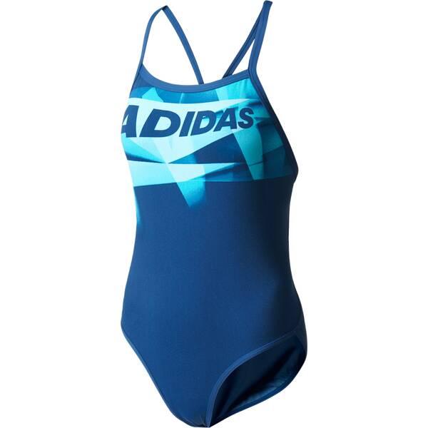 Bademode - ADIDAS Damen Infinitex Graphic Badeanzug › Blau  - Onlineshop Intersport