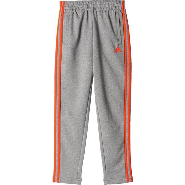 ADIDAS Kinder Sporthose Essentials 3-Streifen Hose Grau