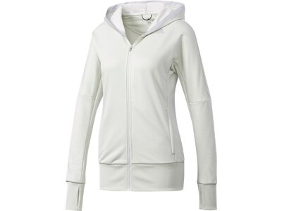 ADIDAS Damen Beyond the Run Kapuzenjacke Grau