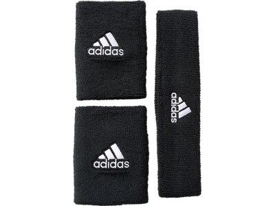 ADIDAS NBA-Schweißarmband plus Stirnband Grau