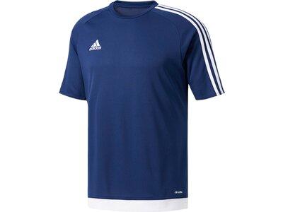 ADIDAS Herren Fußballshirt Kurzarm Blau