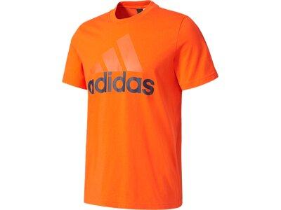"""ADIDAS Herren Trainingsshirt / T-Shirt """"Essentials Linear Tee"""" Braun"""