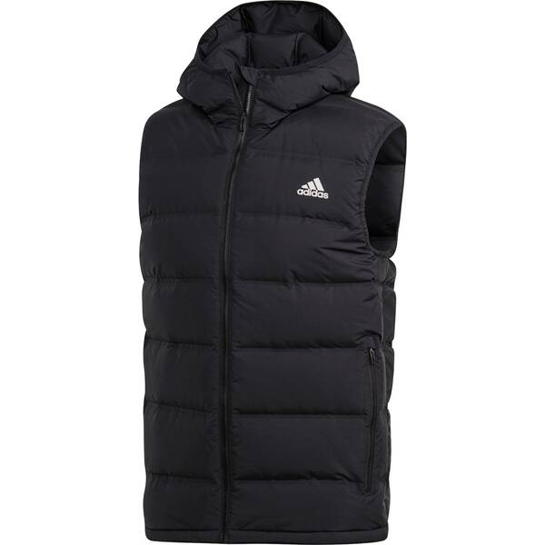 ADIDAS Herren Helionic Hooded Daunenweste | Bekleidung > Westen > Daunenwesten | Black | Adidas