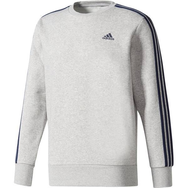 ADIDAS Herren Sweatshirt Essentials 3-Stripes Crew Fleece