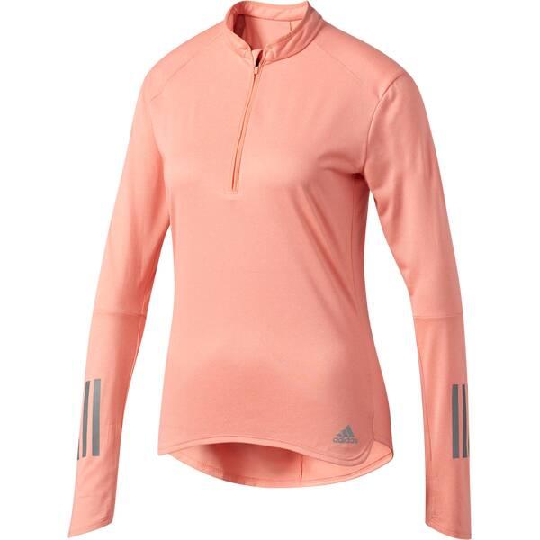 ADIDAS Damen Lauftop RS LS ZIP TEE W Pink