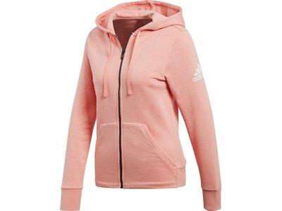 ADIDAS Damen Kapuzensweat ESS SOLID FZ HD Pink