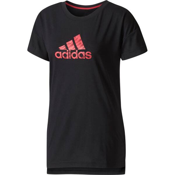 ADIDAS Damen T-Shirt Kinesics Graphic Schwarz