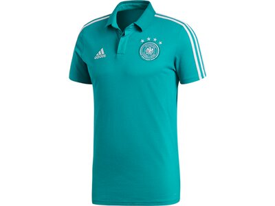 ADIDAS Herren DFB Cotton Poloshirt Blau