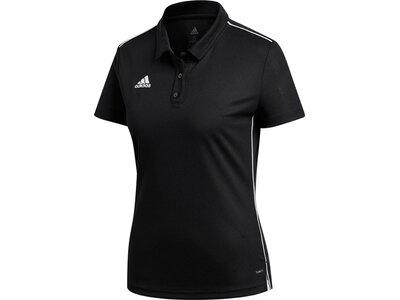 ADIDAS Damen Core 18 Climalite Poloshirt Schwarz