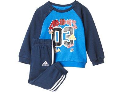 ADIDAS Kinder Sportanzug I SP TERRY JOG Blau