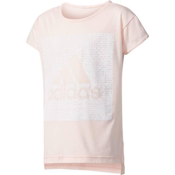 ADIDAS Kinder Shirt YG LOGO LOOSE T Grau