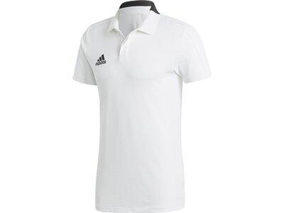 ADIDAS Herren Condivo 18 Cotton Poloshirt Grau