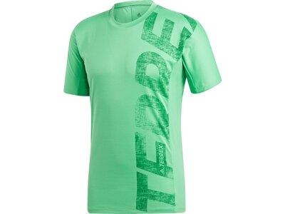 ADIDAS Herren Shirt Trail Cross Tee Grün