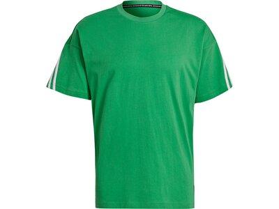 adidas Herren Sportswear 3-Streifen T-Shirt Grün