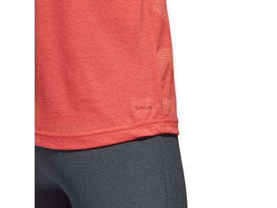 ADIDAS Damen Shirt Logo Cool Rot