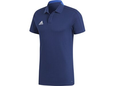 ADIDAS Herren Condivo 18 Cotton Poloshirt Blau