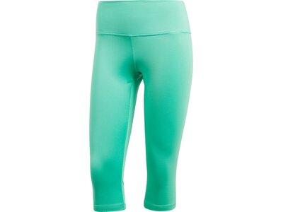 ADIDAS Damen Believe This High-Rise Soft Capri Tight Blau
