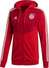 ADIDAS Herren Kapuzenjacke FC Bayern 3S Full Zip Hoodie