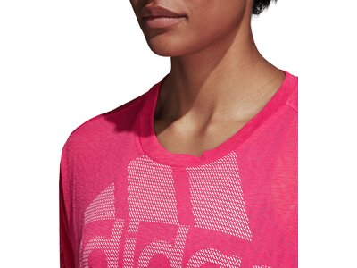 ADIDAS Damen T-Shirt Magic Logo Rot