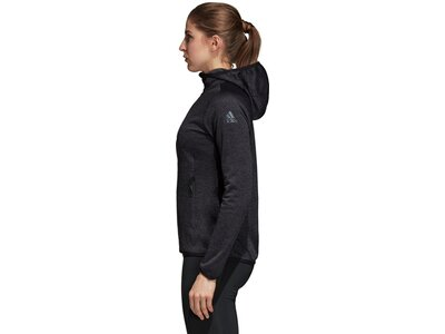 ADIDAS Damen FreeLift Tech Warm Kapuzenjacke Schwarz