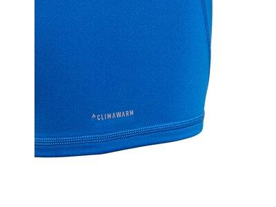 ADIDAS Kinder Langarmshirt AlphaSkin Sport Climawarm Blau