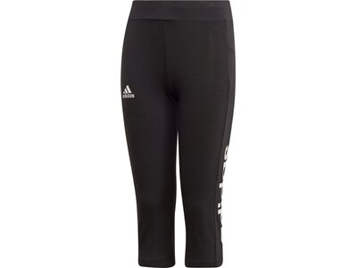 ADIDAS Kinder Essentials Linear 3/4-Tight Schwarz