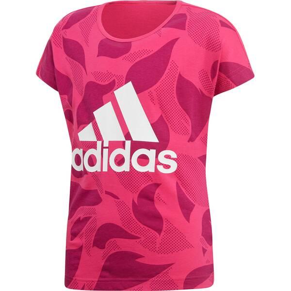 ADIDAS Damen Linear Print T-Shirt