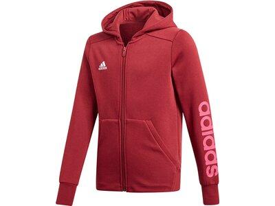 ADIDAS Mädchen Sweatjacke mit Kapuze Rot