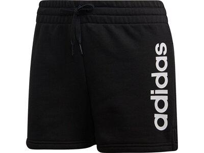 ADIDAS Damen Essentials Linear Logo Shorts Schwarz