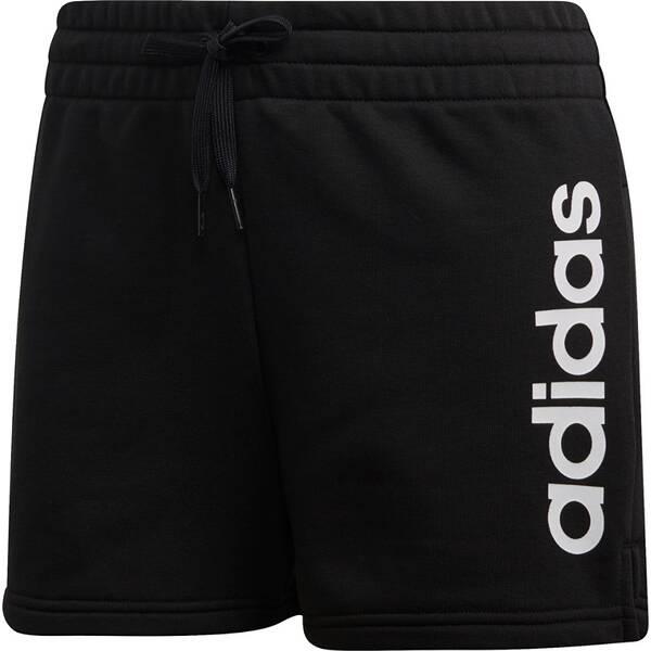 Hosen - ADIDAS Damen Essentials Linear Logo Shorts › Schwarz  - Onlineshop Intersport