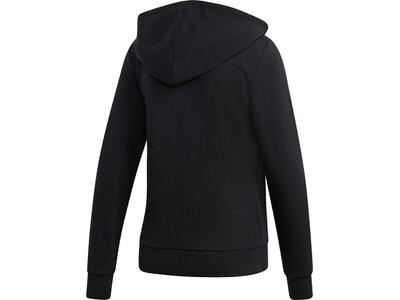 ADIDAS Damen Kapuzensweat Essentials Linear Full Zip Schwarz
