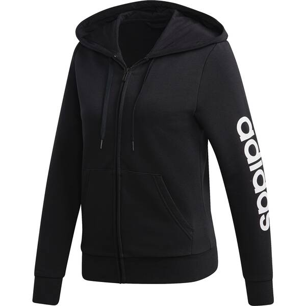 ADIDAS Damen Kapuzensweat Essentials Linear Full Zip