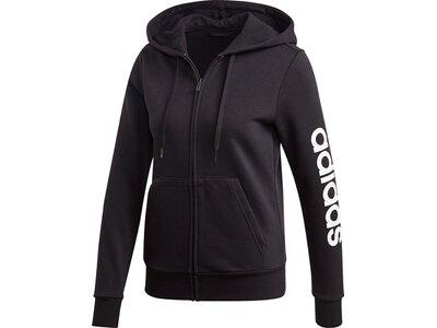 ADIDAS Damen Essentials Linear Fleece Kapuzenjacke Schwarz