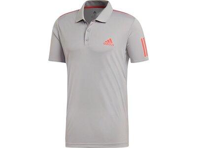 ADIDAS Herren 3-Streifen Club Poloshirt Silber