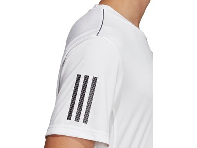 adidas Herren 3-Streifen Club T-Shirt Grau