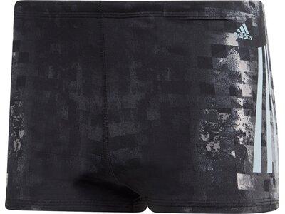 ADIDAS Herren Pro 3-Streifen Graphic Boxer-Badehose Blau