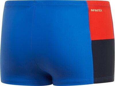 ADIDAS Kinder Fitness Colorblock Boxer-Badehose Blau