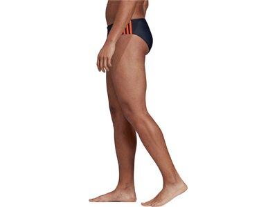 ADIDAS Herren Fitness 3-Streifen Badehose Braun