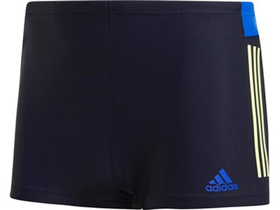 ADIDAS Herren 3-Streifen Colorblock Boxer-Badehose Blau
