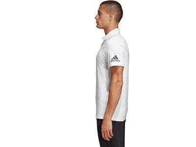 ADIDAS Herren Must Haves Plain Poloshirt Weiß