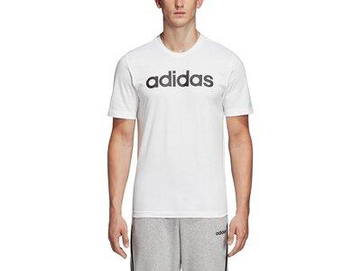 ADIDAS Herren T-Shirt Essentials Linear Logo Weiß