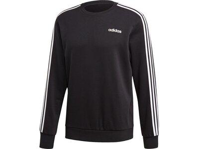ADIDAS Herren Essentials 3-Streifen Sweatshirt Schwarz