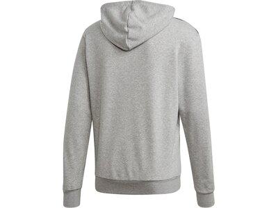 ADIDAS Herren Essentials 3-Streifen Hoodie Grau