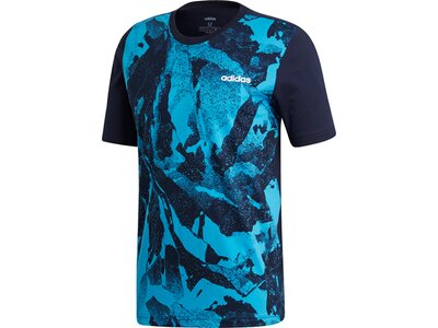 ADIDAS Herren T-Shirt Essentials Print Blau