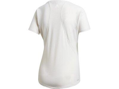 ADIDAS Damen T-Shirt Jacquard Rot