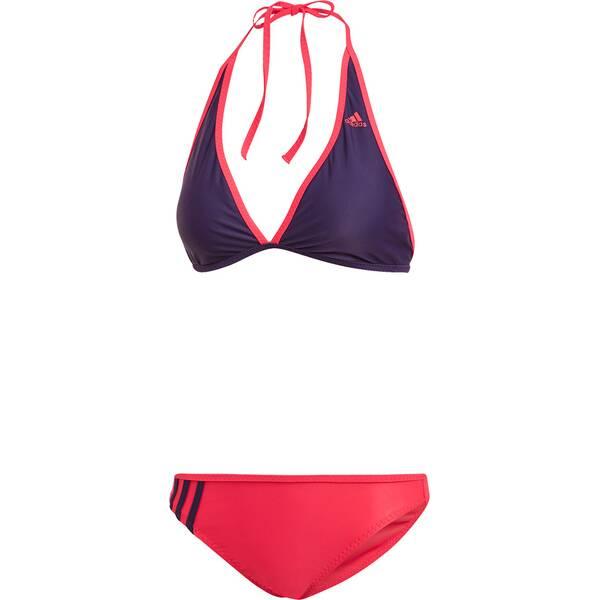 Bademode - ADIDAS Damen Beach Halter Bikini › Lila  - Onlineshop Intersport