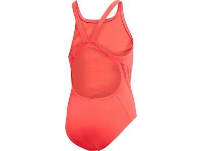 ADIDAS Kinder Pro V 3-Streifen Badeanzug Rot
